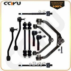 12pcs Sway Bar Control Arm Tie Rod Suspension Parts Kit For 1999-2011 Ford