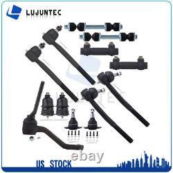 13pcs Suspension Parts Tie Rods End Ball Joint Idler Arm Stabilizer Bar Link Kit