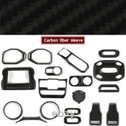 29Pcs Custom Interior Trim Kit Decorative Part Fit 2018 Wrangler JL Carbon Fiber