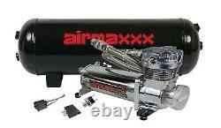 480 Chrome Air Ride Compressor 3 Gallon Tank Drain 165 on 200 off Switch