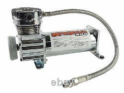 Airmaxxx Chrome 400 Air Compressor 3 Gallon Tank & Drain with150/180 On/Off Switch