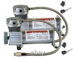 Airmaxxx Pewter 400 Air Compressors 1/2npt Valves Black 7 Switch Tank Air Ride