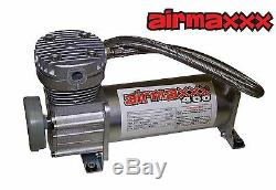 Chevy S10 Air Kit Pewter Air Compressors 25 & 26 1/2npt Valves Blk AVS 9 Switch