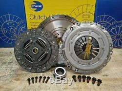 Clutch Kit Fit Solid Flywheel Set Vw Passat Estate 1.6 Tdi 105hp Diesel
