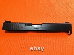 Exc. Cond. Glock 17 G4 OEM Slide With Fry Pan Finish, Upper Part Kit& Fiber Optics