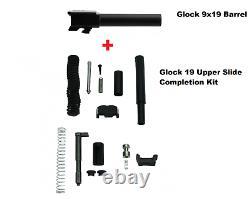 Factory New Glock 19 9mm Barrel + Upper Parts Slide Completion Kit Gen3 USA Made