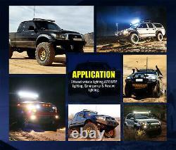 Fit 07-18 Jeep Wrangler JK 5D 52 INCH LED Light Bar+Mounting Bracket+ 2x 4 Pods