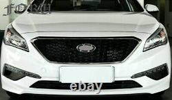 Fits Hyundai Sonata 2015-2017 Front Upper Grille + Front Splitter Body Kit Parts
