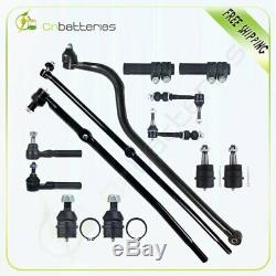 For 2000-2001 Dodge Ram 1500 13pc Steering Parts Front Tie Rod Suspension Kit