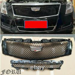 For 2013-17 XTS Cadillac Black Car Truck Parts Front Bumper Upper & Lower Grille