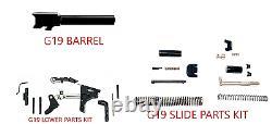 For Glock 19 Gen 3 9 mm Barrel + Upper Completion Kit + Lower Parts Kit Poly 80