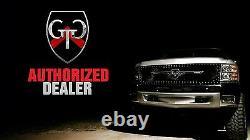 GTG 2016 2017 Ford Explorer 2PC Gloss Black Replacement Upper Billet Grille Kit