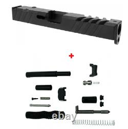 Gen 3 Glock 19 Slide 9mm RMR Ready + Cover Plate With Upper Parts Completion Kit