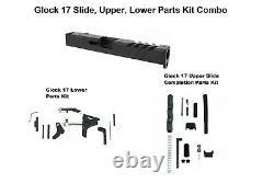 Glock 17 Gen 3 9mm Slide RMR Cut WithCover + Lower + Upper Parts Completion Kits
