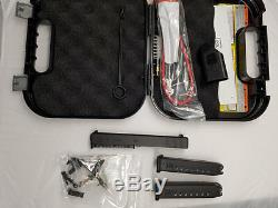 Glock 17 Gen-3 OEM Slide Barrel Upper Lower Parts Kit Case 2-Mag-azines 9-MM