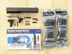 Glock 19 Gen-3 OEM Slide Barrel Upper Lower Parts Build Kit 9-MM Polymer-80 P-80
