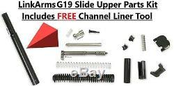 Glock 19 Lower parts Slide Upper parts kit 3.5Lb Connector Adj Trigger PF940c