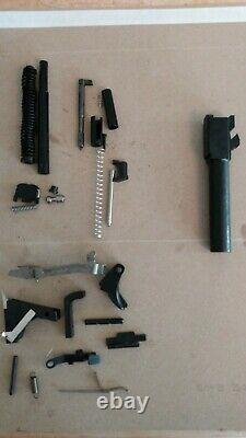 Glock 43, Upper Slide Parts Kit, Lower Parts Kit, Black TN Barrel and Sights
