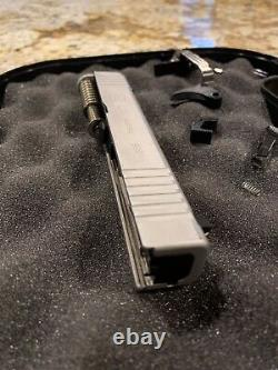 Glock 43x Silver Complete Upper And Lower Parts Kit SS80 Build