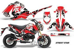 Graphics Kit Decal Sticker Wrap For Honda GROM PARTS 125 13-16 STREET STAR-RED