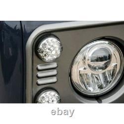 Land Rover Defender 90 / 110 73mm Clear Led Upgrade Light Lamps Kit Part Ba9718
