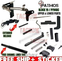 PATMOS Upper Slide & Lower Parts Frame Kit for Glock 19 GEN 3 / P80 PF940C 9mm