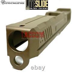 Strike Industries LITE FDE slide for Glok 19 & P80 PF940C + Parts Kit + Barrel