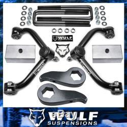 WULF 3+2 Lift Kit w Control Arms For 11-20 Chevy Silverado GMC Sierra 2500HD