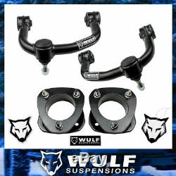 WULF 3 Front Strut Spacer Lift Kit with Upper Control Arms For 04-20 Ford F150